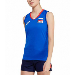 Футболка волейбольная ASICS WOMAN RUSSIA SLEEVELESS Tee